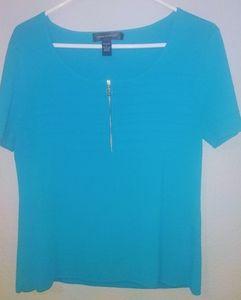 Cable & Gauge blouse with zipper, L